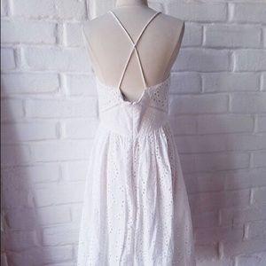 Zara Dresses - NWT Zara Eyelet Lace Midi Dress